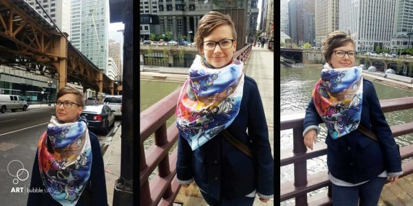 How to wear hand-painted silk scarves