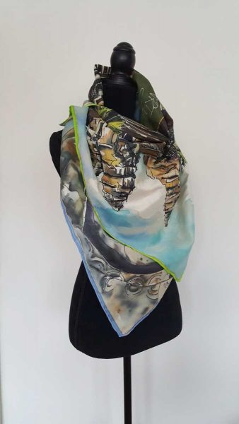 personalised hand painted silk scarf